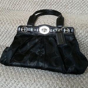 Coach Signature Turnkey Bag, Lurex Garnet 13916